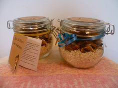 Kit sos risotto Mason Jar Meals, Meals In A Jar, Mason Jars, Mélanges Pour Cookies, Diy Cadeau Noel, Country Crafts, Some Recipe, Christmas Diy, Good Food