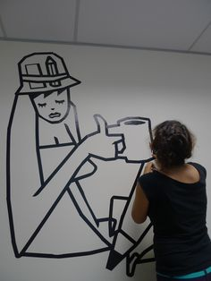 masking tape murals - Google Search