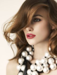 Keira: perfect grey eye paired with a rosie red lip and soft waves. Timelessly beautiful.