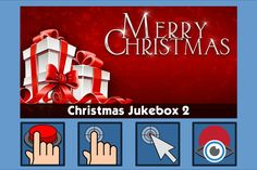 Christmas Jukebox 2 - free teaching activity for switch, touchscreen, pointing device and eye gaze users. Use online or download for Windows PC.