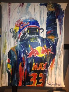 Max Verstappen Gp F1, F1 2017, Motorcycle Logo, Speed Art, Red Bull Racing, Dutch Painters, Automotive Art, Formula One, Race Cars