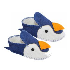 Penguin Slippers Adult Large - Fair Trade - #fairtrade #thisbluesea #shopfairtrade #slippers #boots #booties #women #shoes #Apparel #men #felted #felt #footwear  These adult slippers are stitched into amazing animals; making for a one-of-a-kind unique slipper. The soles are 100% rubber, and the uppers are 100% sheep's wool. Large size fits Women's 9-10 or Men's 8-9  Meet the Artisans  The Silk Road Bazaar Silk Road Bazaar is a wholesale representative of marginalized artist groups located in…