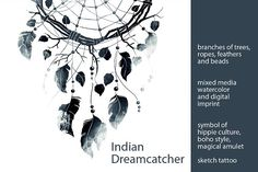 Indian Dreamcatcher by Digital and watercolor on @creativemarket
