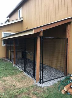 Our new dog kennel. The dog house is an entrance into a heated garage. Our new dog kennel. The dog house is an entrance into a heated garage. What Do You Need To Build A