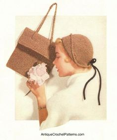 This free fold away cloche crochet hat pattern was originally published in the 1940s in the American Thread Company's Puritan Crochet Book.