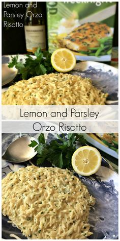 Lemon & Parsley Orzo Risotto ~ a lovely, easy and delicious side dish the family will love. It's so economical at $2.78 to make.