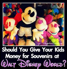 Do you give your kids money for souvenirs on a Walt Disney World vacation? See how much these parents give their kids...(planning article)