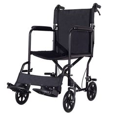 Costway Lightweight Foldable Medical Wheelchair Transport w/ Hand Brakes FDA Approved