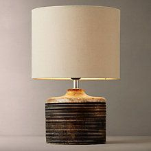 John Lewis Ira Ribbed Wooden Table Lamp Online at johnlewis.com #FashionYourHome