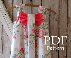 Aubrey - Bow Dress Sewing Pattern. Girl's Dress Pattern. Toddler Pattern. Sizes 12m-8 included. $7.50, via Etsy.