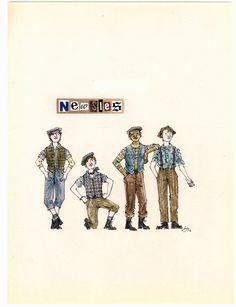 Disney Newsies drawing