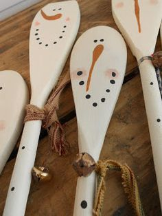 Booth #555: Holiday Wooden Spoons (Snowmen Spoons & Pumpkin Spoons)