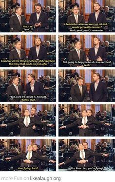 Jonah Hill and Leonardo DiCaprio being awesome....legit lost it when I saw this. We're talking screaming and crying.