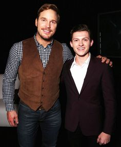Chris Pratt and Tom Holland attend CinemaCon 2016 An Evening with Sony Pictures Entertainment: Celebrating the Summer of 2016 and Beyond at The Colosseum at Caesars Palace during CinemaCon, the official convention of the National Association of Theatre Owners, on April 12, 2016 in Las Vegas, Nevada.