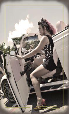 Ensaio fotográfico PinUp cenário: 8º Encontro Carros Antigos de Guarulhos local: Bosque Maia - Guarulhos foto: Marina Pinto/MP fotografia make: Erica Cardial/Canal Nega Sou Eu produção: Célia Thomé e Meri P. modelo: Aline Fonseca