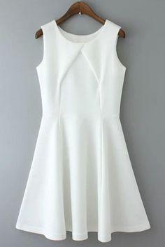 Three Color Selection Sleeveless Mini Dress - OASAP.com