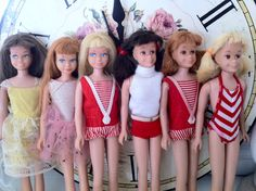 1960s Skipper and Skooter dolls.  I had the blonde skipper and the red headed Skooter.