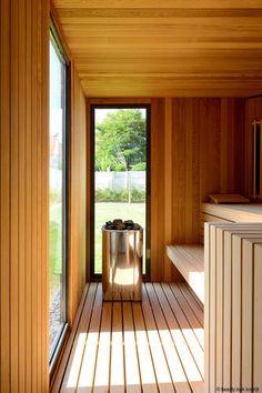Sauna House, Sauna Room, House Front Design, Modern House Design, Jacuzzi, Scandinavian Saunas, Modern Saunas, Indoor Sauna, Sauna Design