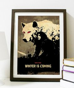 Games of Thrones - HOUSE STARK - Winter is Coming Poster A3 Print