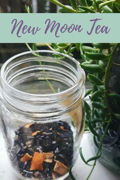 New Moon Tea Blend Recipe The Witch of Lupine Hollow Herbal Tea herbal tea recipes Weight Loss Tea, Homemade Tea, Kitchen Witchery, Tea Benefits, Liqueur, New Energy, Tea Blends, Tea Recipes, Witches