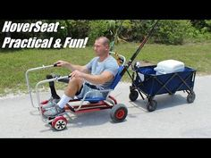 Patent Pending Cart Attachment HoverSeat let you to ride self-balancing electric scooter hoverboard while sitting instead of standing. Electric Scooter, Electric Cars, Electric Vehicle, Bone Strength, Performance Wheels, Fishing Chair, Cooler Box, Garage Workshop, Bicycles