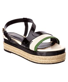 LANVIN Lanvin Patent &Amp; Leather Espadrille'. #lanvin #shoes #sandals