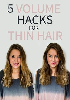 5 Volume Hacks for Thin Hair via @styletab