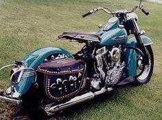 1949 Harley-Davidson Panhead Right-Rear #harleyddavidsonpanhead #harleydavidsongirlsbeautiful #harleydavidsonchoppers #harleydavidsonpanhead