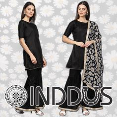 Make a statement with ethnic styles! Choose from a stunning variety of ethnic options! Shop Inddus, NOW. Salwar Suits Online, Salwar Kameez Online, Designer Salwar Suits, Dresses Online Usa, Indian Dresses Online, Patiala Suit, Ethnic Fashion, Festival Wear, Black Silk