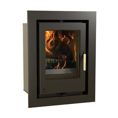 Buy Arada Aarrow Glass Door Multi Fuel Wood Burning Stove from Fast UK Delivery and lowest prices guaranteed. Inset Stoves, Wood Fuel, Victorian Living Room, Multi Fuel Stove, Wood Burning, Glass Door, Home Appliances, Fire