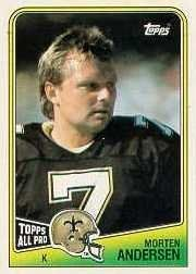 1988 Topps #61 Morten Andersen by Topps. $0.39. 1988 Topps Co. trading card in near mint/mint condition, authenticated by Seller