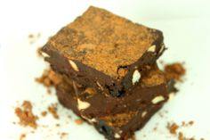 Raw Black Forest Brownies by @OutToLunchC