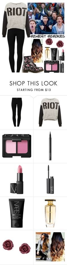 """""""Midnight Memories"""" by elise-22 ❤ liked on Polyvore featuring River Island, Pull&Bear, NARS Cosmetics, Balmain, Brooks Brothers, Dr. Martens, OneDirection and MidnightMemories"""
