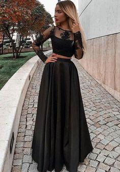 #blackpromdresses #promdresseswithappliques #2piecepromdresses #promdressesforwomen #promdressesblack #dressesforwomen #promdresseswithlace