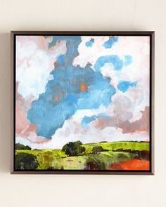 """""""Clouds"""" Print at Horchow."""