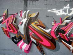 #graffiti #piece #burner http:// urbanartbomb.com - graffiti wall - 3d graffiti
