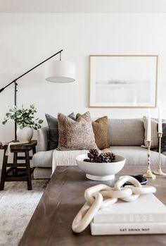 Living Room Inspiration, Home Decor Inspiration, Decor Ideas, Room Ideas, Home Living Room, Living Spaces, Living Room Floor Lamps, Living Room With Carpet, Living Room Neutral