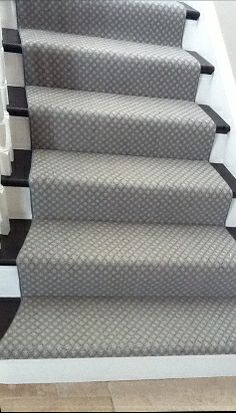 Terrific Totally Free gray Berber Carpet Strategies To completely know what Berb. Terrific Totally Free gray Berber Carpet Strategies To completely know what Berb… Terrific Total Black And White Stairs, White Staircase, Carpet Staircase, Staircase Runner, Staircase Design, Stair Runners, Basement Carpet, Carpet For Stairs, Staircase Remodel