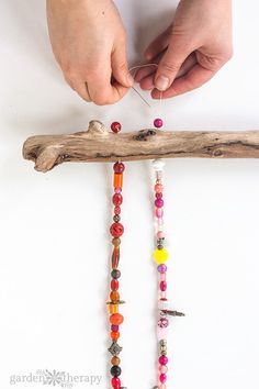 How to Make a Beaded Wind Chime with Bells Step by Step