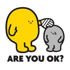 ARE YOU OK?  Preorder I am OK set to get the free stickers!! http://fluffyhouse.bigcartel.com/product/i-am-ok