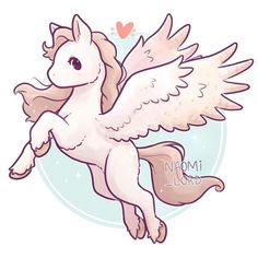 ✨💕 Next up on my Mythical Creatures series! A Pegasus! or Winged Horse! 💕✨ It's always a challenge trying to make horses cute but I tried… Cute Easy Drawings, Cute Kawaii Drawings, Beautiful Drawings, Fantasy Drawings, Horse Drawings, Caballo Spirit, Winged Horse, Creature Drawings, Mythical Creatures Art