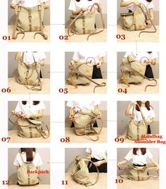 Women Canvas Casual Multifunctional Microfiber Leather Large Capacity Handbag Shoulder Bags Backpack Online - NewChic Mobile.