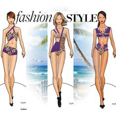 Fashion  Swimwear  Collection by coppin-s on Polyvore featuring Just Cavalli and Diane Von Furstenberg