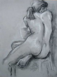 Drawing figures using straight lines and the flat side of charcoal or pastel sticks - WetCanvas
