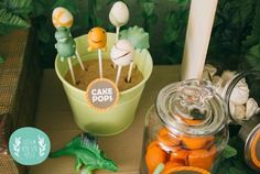 Orange and Green Dinosaur Birthday Party with Such Darling Ideas via Kara's Party Ideas KarasPartyIdeas.com #dinosaurparty #boyparty #dinosaurcake #partydecor #partyideas (11)