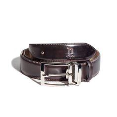 Burnet/Satin Silver Belt   DONUM Men's Footwear & Accessories
