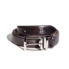 Burnet/Satin Silver Belt | DONUM Men's Footwear & Accessories
