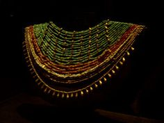 Monte Alban, Tomb 7 Gold and gemstone Necklace In The Santo Domingo Convent And Monastery Oaxaca Mexico.
