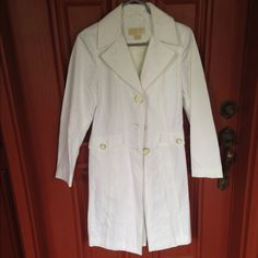 Michael Kors Trench Coat Like new no stains rips or any other damage worn once.Fits a Small also.Shell:58%Cotton42%PolyesterLining100%Polyester Michael Kors Jackets & Coats Trench Coats