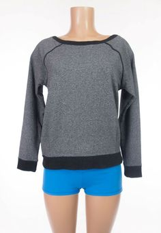 LULULEMON Crew Love Pullover 8 M Heathered Speckled Blk French Terry 1st Release #Lululemon #SweatshirtCrew